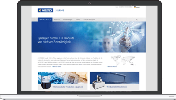 Website Ammersee Media - Kunde Accretech