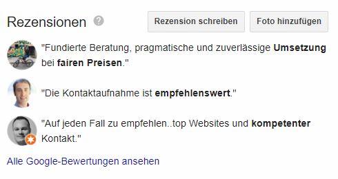 auszug google bewertungen
