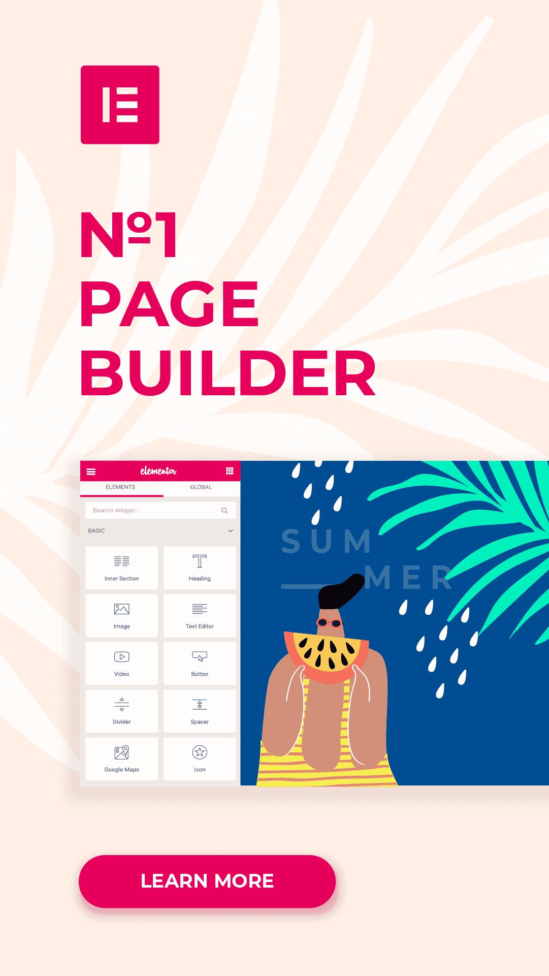 elementor page builder - banner