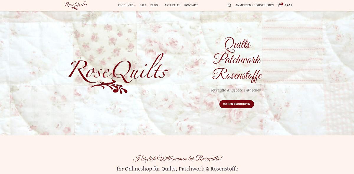 Rosequilts Onlineshop