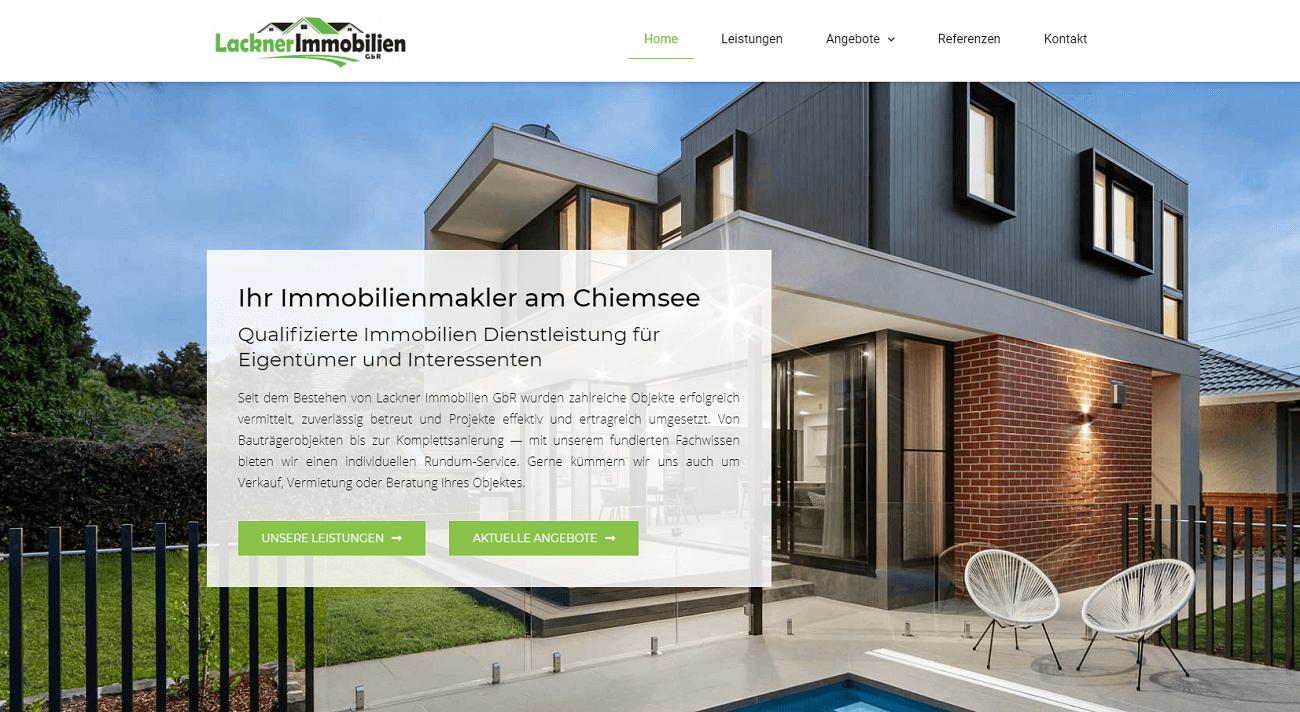 Lackner Immobilien Webseite