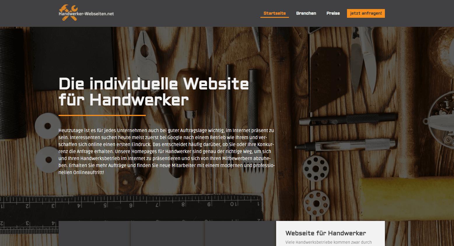 handwerker webseiten - homepage - website